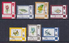 Gibraltar 1977-81 Used Definitives Imprints Flora Fauna Flowers Fish Butterflies