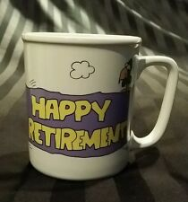 "Skywriters ""Congratulations on your Retirement""  HUMOROUS coffee cup mug"