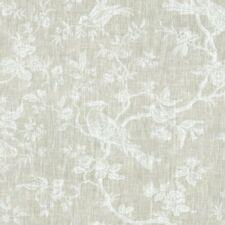 Textiles français The Regal Birds Toile de Jouy linen fabric - White