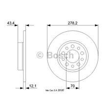 Disco de freno, 1 piezas Bosch 0 986 479 378