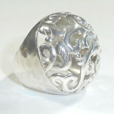 Silpada R2983 Swirly Girl Sterling Silver Ring Size 9 Filigree Cut Out .925 Dome