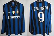2009-2010 Inter Milan Jersey Shirt Maglia Home PIRELLI CL UCL L/S Zamorano #9 XL