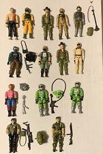 New listing Vintage Gi Joe 14 action figures and accessories lot Cobra 1983 Thru 1987