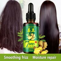 30ml ReGrow 7 Day Ginger Germinal Serum Essence Oil Hair Loss Treatement Growth