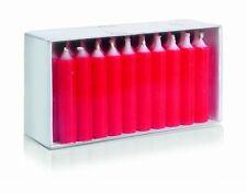 40er Pack Geburtstagskerzen Puppenlichte 63x12mm Farbe Rot Wiedemann Kerzen
