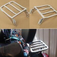 Sissy Bar Backrest Rear Luggage Rack For Harley Softail Dyna Super Glide Custom