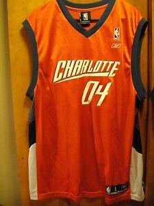 Charlotte Bobcats 2004 Reebok PROMOTIONAL Jersey Shirt Large Orange