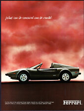 """1982 Ferrari 308 GTSi Coupe photo """"What's Conceived Can Be Created"""" print ad"""