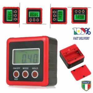 Livello Magnetico Angolo Orizzontale Goniometro Digitale Inclinometro 0-360° LCD
