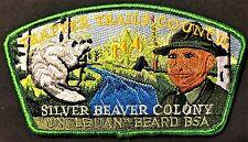 Trapper Trails Council Oa 535 Patch 529 561 407 520 Silver Beaver Dan Beard Csp