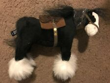 "NEW Disney Pixar Brave ANGUS Black Mini Horse 8"" x 6"" Plush Doll Toy"