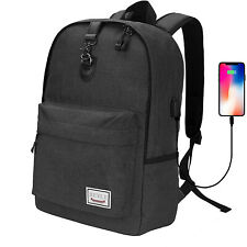 """17"""" Anti-Theft Water Resistant Travel Laptop Backpack w/ USB Charging Port"""