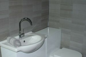 10 X Smoked Grey Small Tile Effect Cladding Bathroom Panel