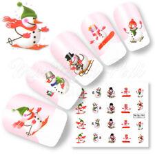 Nail Art Water Decals Transfers Stickers Christmas Snowman Xmas Snowmen K135