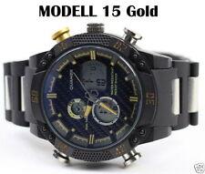 Relojes de pulsera digitales de oro resistente al agua