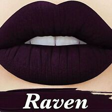 LIME CRIME VELVETINE VELVETINES RAVEN DARK PURPLE 2 MOOD MATTE LIPSTICK COSMETIC