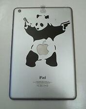 1 x Banksy Panda Decal - Vinyl Sticker for iPad Mini graffiti fighting gun panda