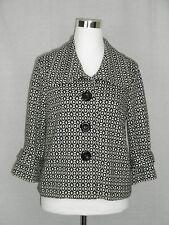 I.C.E. Vintage Geometric Boho Blazer Jacket 1970s Disco Style Women's 10