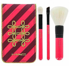 MAC Cosmetics 3 Piece Cosmetic Brush Set and Travel Set Face Blender Angle NEW