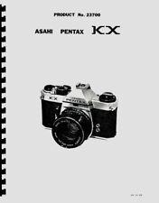 Asahi Pentax KX, K1000 Parts List with Exploded Views Reprint