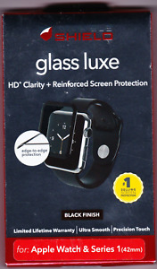 ZAGG INVISIBLE SHIELD GLASS LUXE APPLE WATCH & SERIES 1 (42mm) BLACK FINISH