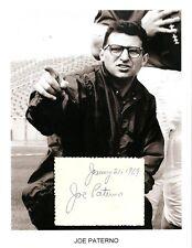 Joe Paterno Autograph JoePa  NCAA Football Penn State Nittany Lions Brooklyn #1