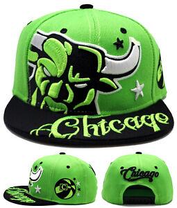 Chicago New Leader AngryBull Colossal Bulls Clr Green Black Era Snapback Hat Cap