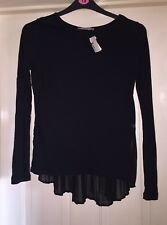 Atmosphere Size 10 Top Black With Pleated Floaty Back New