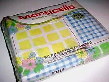 """Cannon Mills Vintage Monticello Picnic Style 231 Full Flat Sheet 54"""" x 76"""" New"""