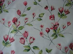Harlequin Curtain Fabric VIVIANA 5.6 metres Floral Design Shabby Chic Style