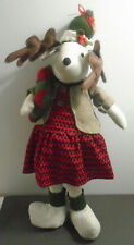 VINTAGE STUFFED RUSTIC CHRISTMAS MOOSE 24""