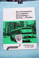 Motorola 2-Way Radio Brochure - Bus - 1969