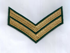 British and Commonwealth Corporal's Chevrons-Gold on Green