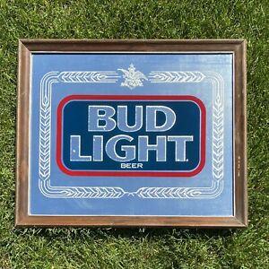 VINTAGE 80s Bud Light Mirror Sign