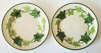 "Franciscan Green Ivy Side Plate 6 1/4"" Made in California Hand Painted Set/2"