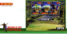 St Helena 2010 FDC World of Football 3v M/S Cover Soccer Sports Stamps