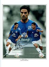 Mikel Arteta Firmado Autógrafo 16x12 Everton Montage Foto Aftal Coa