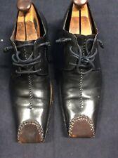 Vero Cuoio Black Leather Oxfords Size 14