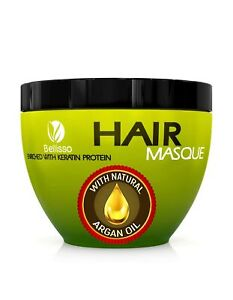 Bellisso Moroccan Argan Oil Hair Mask Deep Conditioner Sulfate Free for Dry o...