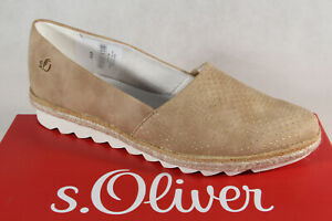 Oliver Ballerine pantoufles Chaussures Basses escarpins marron//beige NEUF!!! S