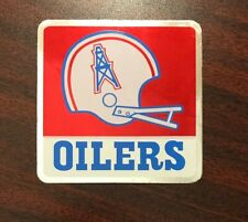 Old Vintage HOUSTON OILERS  Chrome type  Decal  !!!