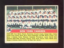 1956 Topps #251 New York Yankees team - EX Mantle Berra Ford