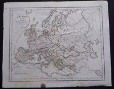§ carte l'Europe sous Charlemagne - Félix Delamarche 1828