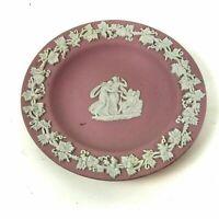 Wedgwood Pink Jasperware Trinket Dresser Dish