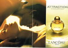 PUBLICITE ADVERTISING 045  2003  LANCOME  parfum femme ATTRACTION  ( double page