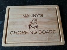 Personalised Chopping Board Laser Engraved On Solid Bamboo