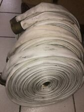 Fire Hose Croker Standard 100 Ft 1 1/2 In Brass Coupling 250 Psi Good Condition