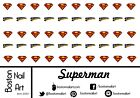 Superman Waterslide Nail Decal - 50 PC - BNA-20007