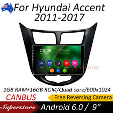 """9"""" Android 6.0 4-Core GPS Nav Car Multimedia player For Hyundai Accent 2011-2017"""