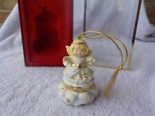 LENOX CHRISTMAS ORNAMENT ANGEL TREASURES TRINKET FIGURINE NOS MIB PORCELAIN